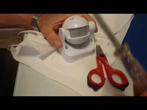 Schema Collegamento Lampada Con Sensore Di Movimento : Collegare un sensore di movimento youtube