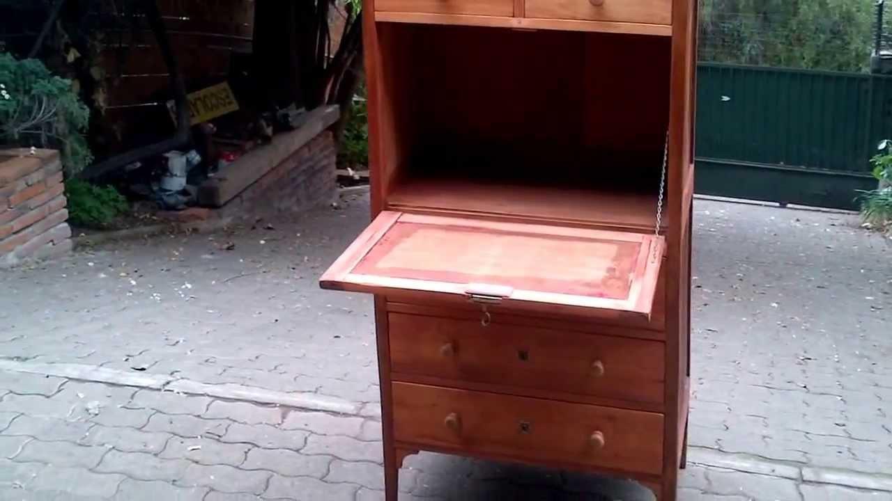 Escritorio secretario comoda mueble madera licorera llave for Comoda mueble