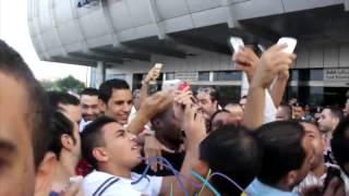فيديو  لحظات وصول إيفونا لمطار القاهرة