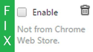 SOLUTION: Chrome automatically disables extensions that are not from webstore thumbnail