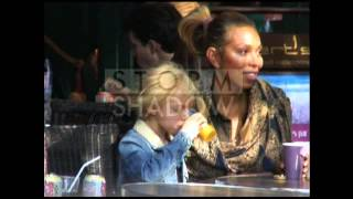 Angela Ermakova and her daughter Anna in Paris