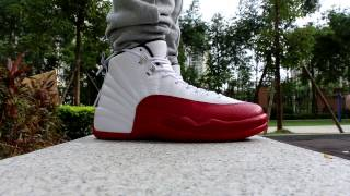 55a23a1f3fb5 Air Jordan 12 Cherry 2016 on feet HD Review From Trade666a.cn