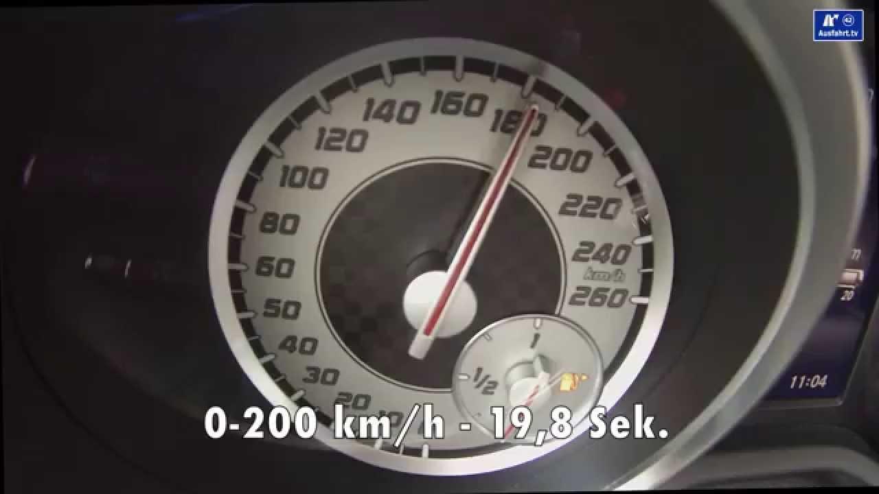 200 Kph To Mph >> 2014 Mercedes Slk 350 Acceleration 0 125 Mph Beschleunigung 0 200 Kph Kmh Tachovideo