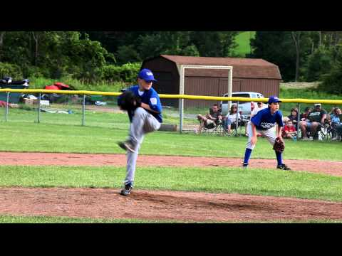 Amazing 12 yo pitcher throws a strikeout