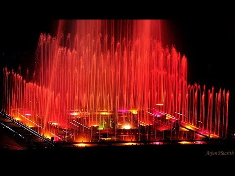 The Musical and dancing fountain of Brindavan Garden, Mysore