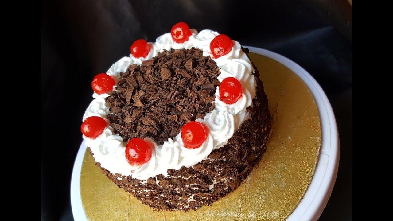 চুলায় তৈরি ব্ল্যাক ফরেস্ট কেক   Black Forest Cake Recipe ...