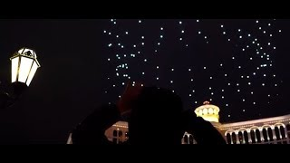 Intel Shooting Star Drones Light the Sky at the Fountains of Bellagio during 2018 CES