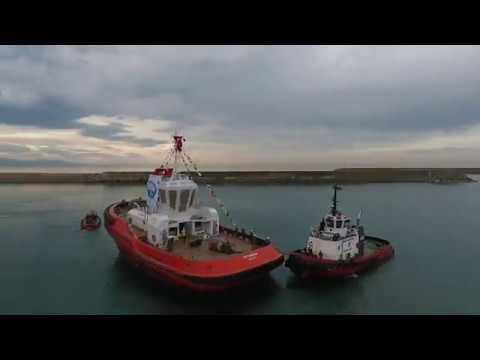 Med Marine | ER75 RAstar 3000-W Tugboat Launching