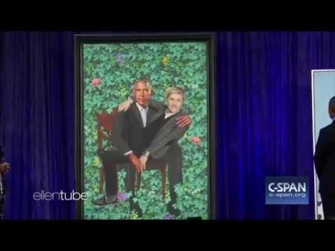 Ellen Degeneres & Barack Obama Portrait