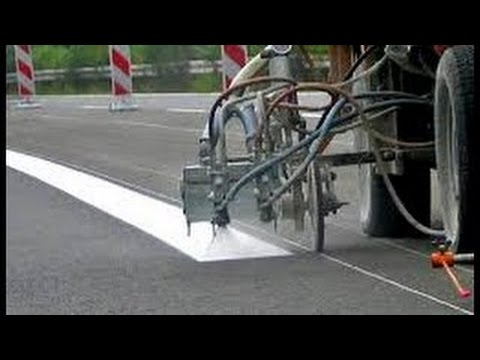 #Amazing Amazing Road Lines Painting / Marking Machine Compilation #HD #2017