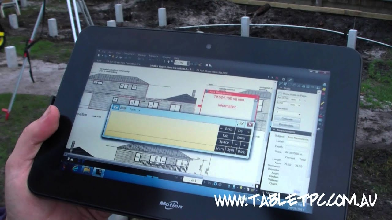 Motion Computing CL900 - Windows 7 Tablet PC with Bluebeam PDF Revu - Made  for Construction