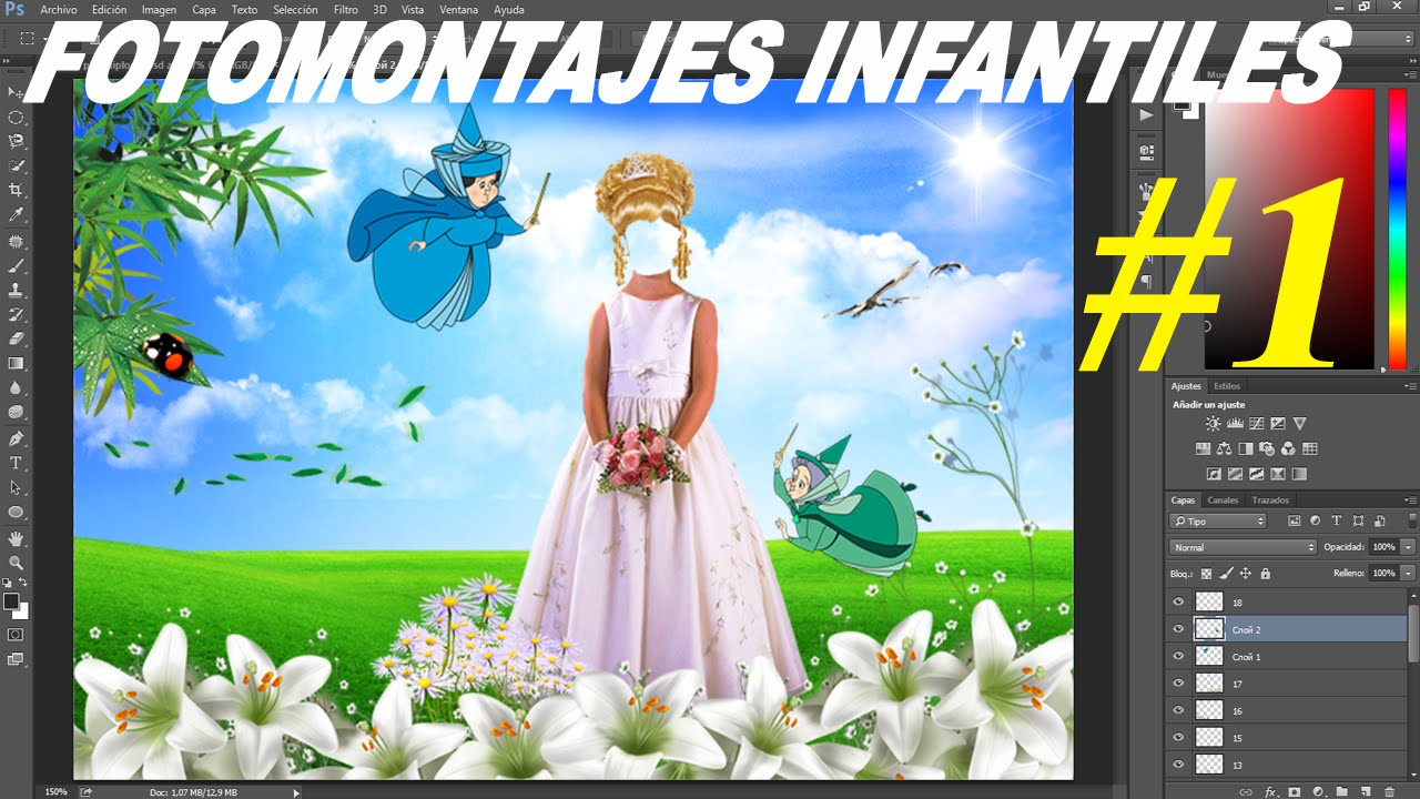 Fotomontajes psd para niños y niñas diseños elegantes │plantillas ...