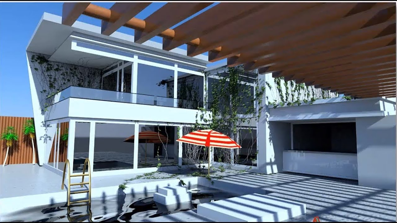 Outdoor Lighting 3ds Max Mental Ray Youtube