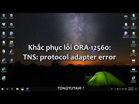 Database Oracle - Lỗi ORA-12560 TNS: protocol adapter error ? và Cách khắc phục