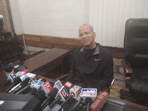 IG Traffic Basant Rath interacting with Media Persons in Srinagar
