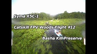 Syma X5C-1 Catskill FPV Woods Flight #12 Basha Kill Preserve