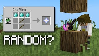 Minecraft with Random Drops and Recipes is Insane