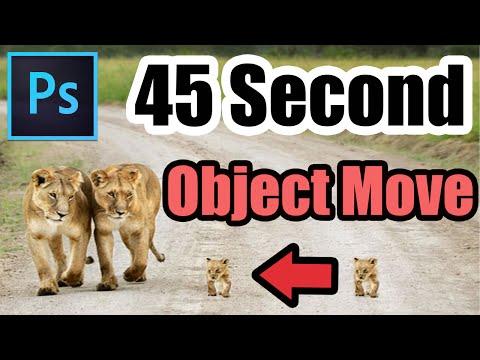 How to Move Objects and People in Photoshop CC (Fast Tutorial)