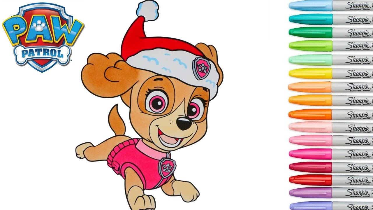Paw Patrol Coloring Book Skye Episode Christmas Colouring Pages