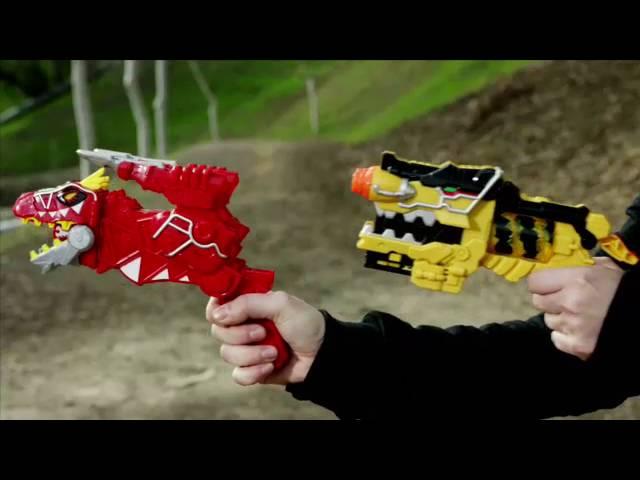 Power Rangers morpher Gun DX T Rex Rouge Dino Charge Transforming pistolet-très bon état