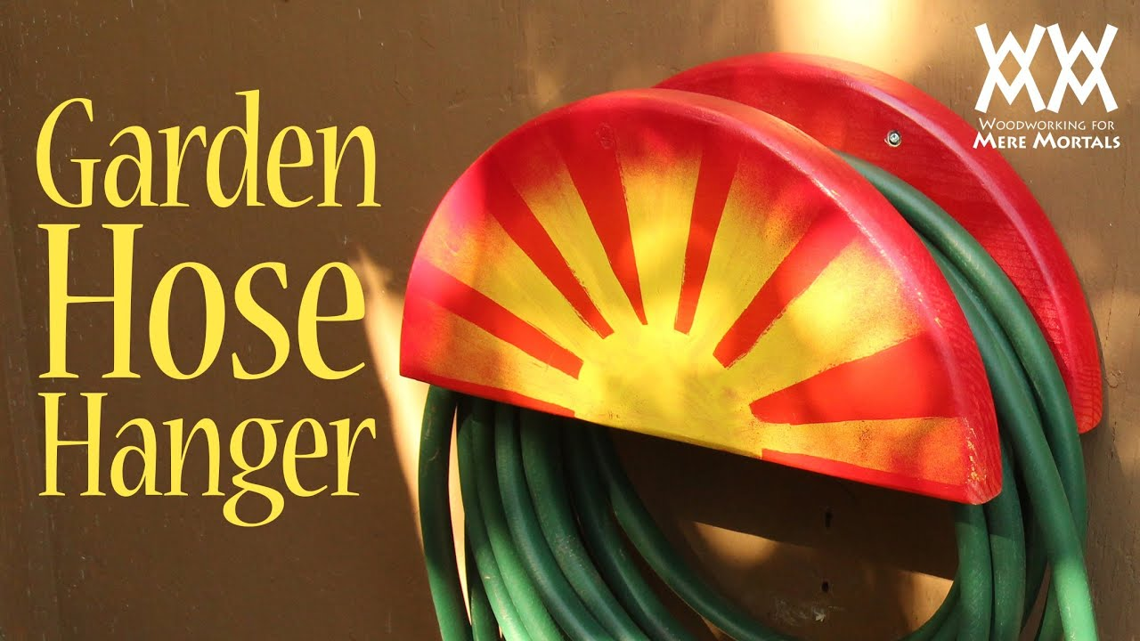 Garden Hose Hanger. Fun Spring Woodworking Project For Your Home!   YouTube