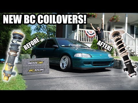 INSTALLING CUSTOM BC COILOVERS ON THE CIVIC!