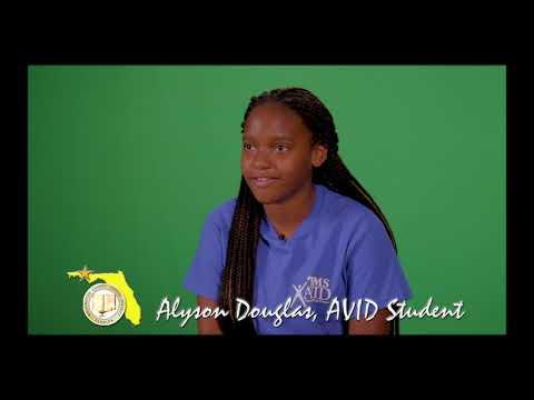 Alyson Douglas- Roulhac Middle School AVID Program Promo Clip 12-19-18