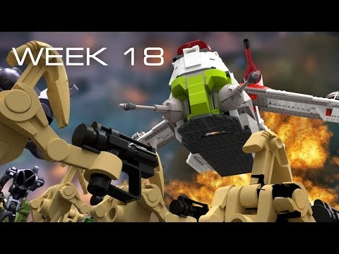 Building Kashyyyk in LEGO - Week 18: Merging Creations