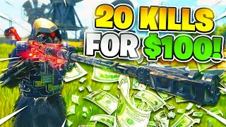 CoD BLACKOUT | CAN i GET 20 KiLLS FOR $100 DONO?!?! iNSANE CHALLENGE GAMEPLAY W/ ATTACH