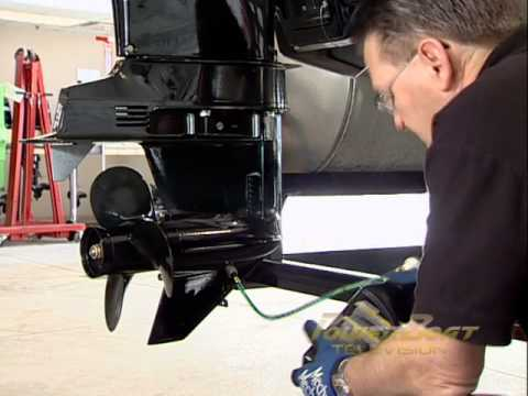 How To Winterize A 4 Stroke OB - PowerBoat TV
