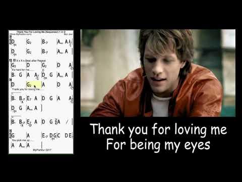 Thank You For Loving Me chords at MyPartitur Lyrics