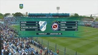 Fútbol en vivo. Temperley - Argentinos. Fecha 30 Primera División 2015. FPT.