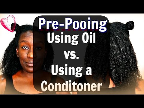 Natural Hair Wash Day Routine: Pre-Poo with Coconut Oil vs Conditioner | Which is Best?