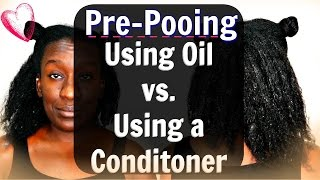 Pre-pooing Natural Hair: Using Coconut Oil vs Conditioner Before you Shampoo (Type 4 Hair)(Pre-pooing Natural Hair: Using Coconut Oil vs Conditioner Before you Shampoo (Type 4 Hair) Coconut oil? Condition? I had to do this video cause I want every ..., 2016-01-24T15:48:50.000Z)