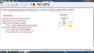 Pseudocode and Flowchart