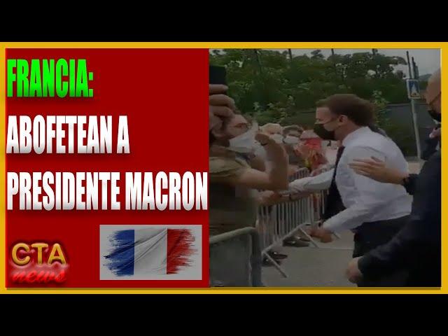 MACRON 🇫🇷: ABOFETEADO durante un acto por Hombre en el sureste de FRANCIA