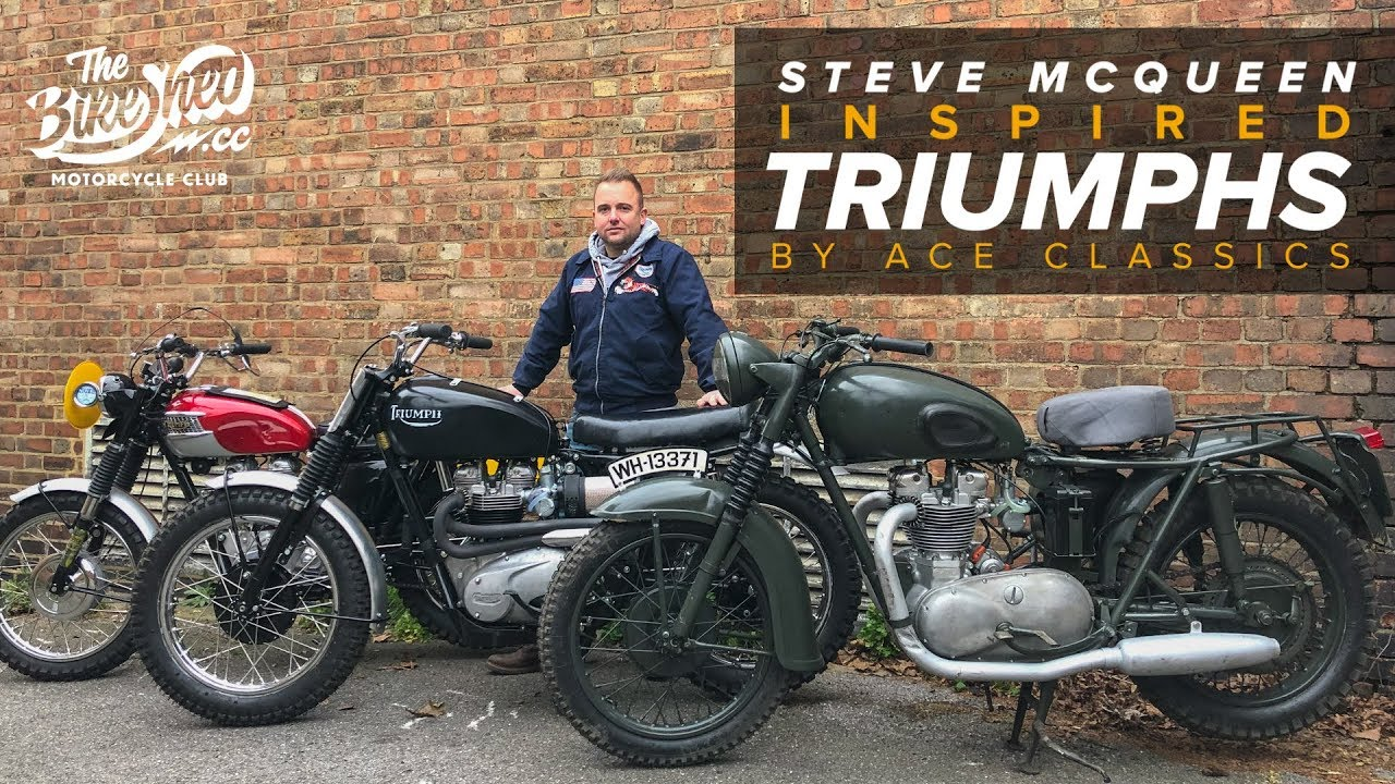 steve mcqueen great escape inspired triumph by ace. Black Bedroom Furniture Sets. Home Design Ideas