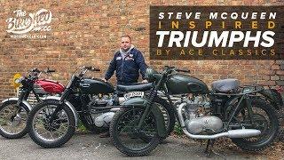 Steve McQueen Great Escape inspired Triumph by Ace Classics
