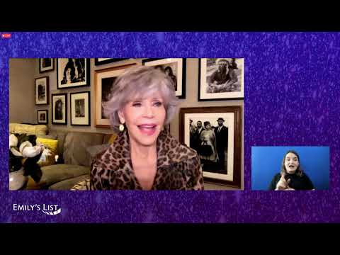 """Jane Fonda at EMILY's List Event """"First But Not The Last: What It Means to Be a Groundbreaker""""."""