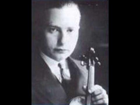 """Josef Wolfsthal - Tartini : Violin Sonata """"Devil's Trill """" 悪魔のトリル- 2/2"""