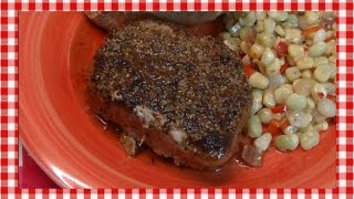 Bacon Wrapped Cider Glazed Pork Loin Chops ~ Noreen's Kitchen