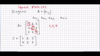 Linear Algebra 68, Diagonal Matrices, Matrix Trace