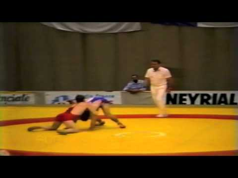 1987 Senior World Championships: 100 kg Hakan Karlsten (SWE) vs. Clark Davis (CAN)