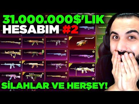 31.000.000$'LIK HESABIMI TANITTIM #2 (SİLAHLAR, ARABALAR VE HERŞEY!!)   PUBG MOBILE