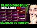 Gambar cover 31.000.000$'LIK HESABIMI TANITTIM #2 SİLAHLAR, ARABALAR VE HERŞEY!!   PUBG MOBILE