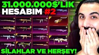 31.000.000$'LIK HESABIMI TANITTIM #2 (SİLAHLAR, ARABALAR VE HERŞEY!!) | PUBG MOBILE