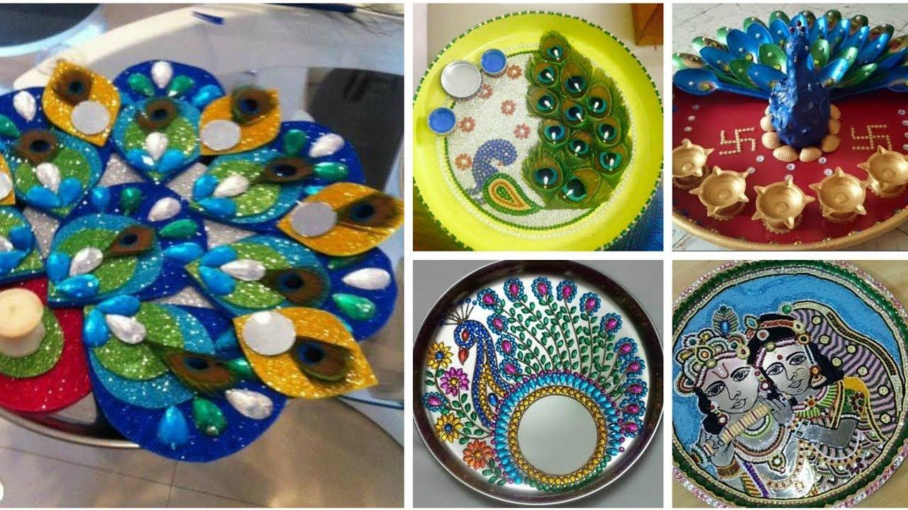 Krishna Janmashtami Special Pooja Thali At Home Decoration Ideas Youtube