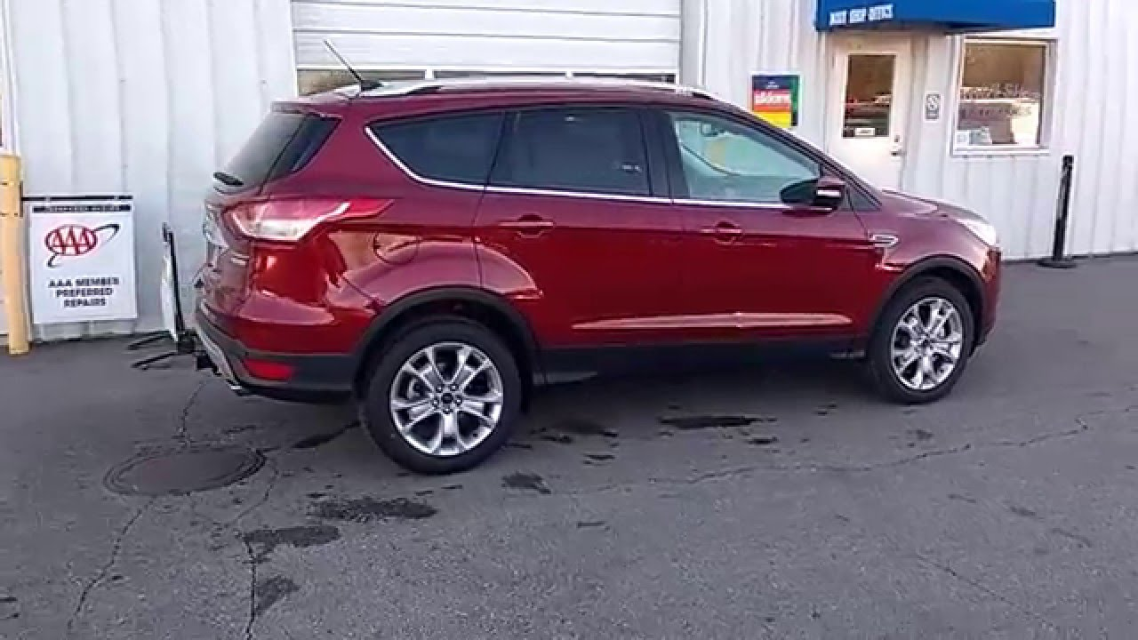 Ruby Red 2016 Escape Anium Fwd 2 0l Ecoboost 300a Tow Package Navigation Marshall Ford
