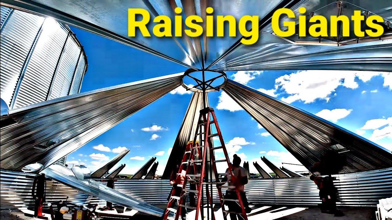 Here We GO! Raising GIANT Grain Bins Part 1