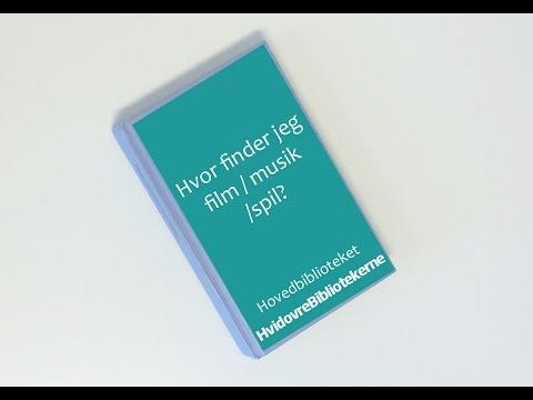 Hvor finder jeg film, musik og spil på Hvidovre Hovedbibliotek?